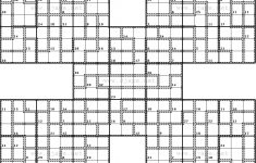 Killer Samurai Sudoku Printable