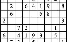 Janric Classic Sudoku Printable