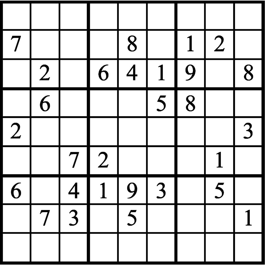 Janric Classic Sudoku For Sep 22, 2019,| Creators Syndicate
