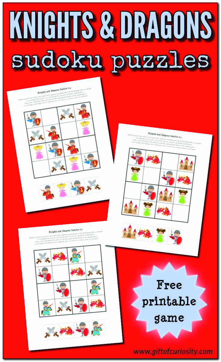 Knights And Dragons Sudoku {Free Printables} - Ridders