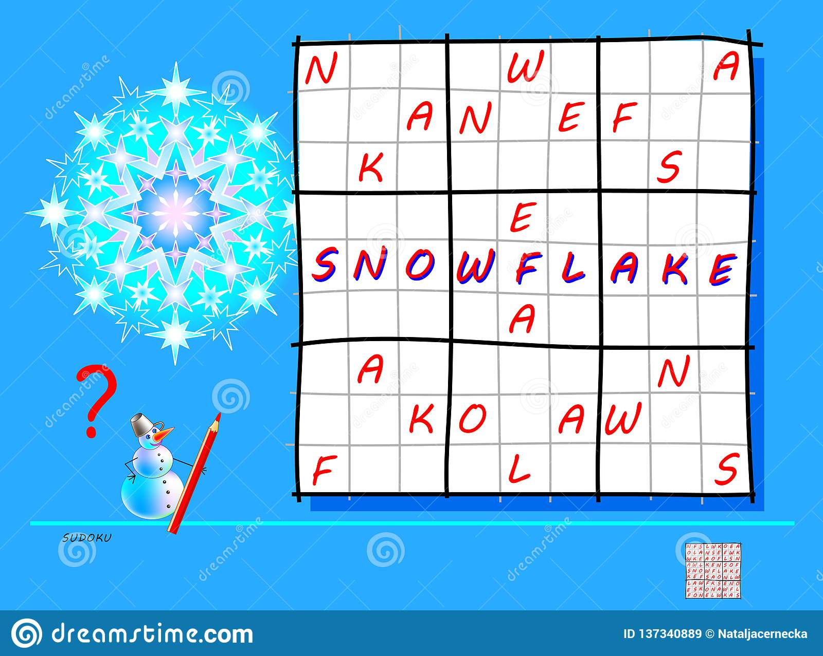 Logic Sudoku Game. Need To Complete The Puzzle Using The