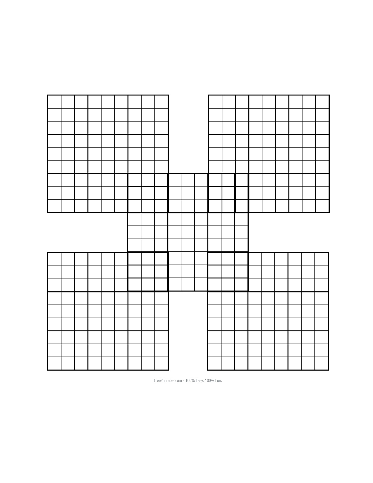 Lovely Blank Sudoku Worksheet | Educational Worksheet