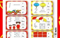 Mandarin And English Numbers To 10 Play Dough And Tracing