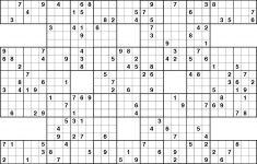 13 Grid Sudoku Printable