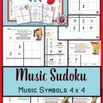 Music Games: Sudoku 4 X 4 Music Worksheets: Music Quiz