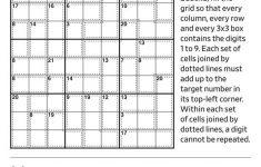 Suko Puzzle Printable Sudoku
