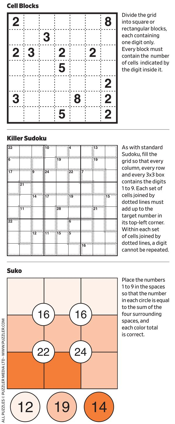 Number Puzzles - Wsj Puzzles - Wsj
