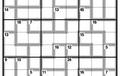 Free Printable Sum Sudoku