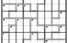 Killer Sudoku Printable Easy