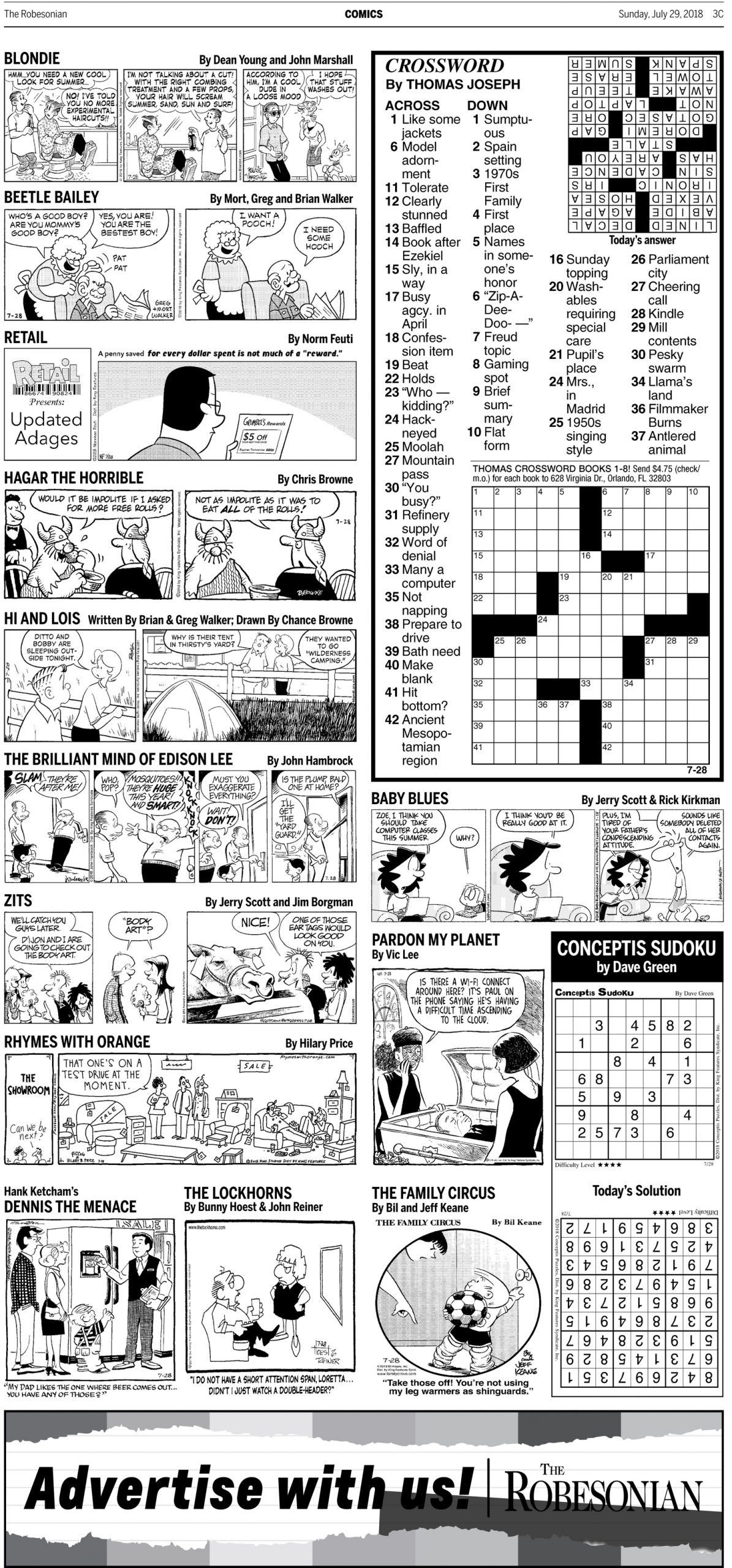 Paper Blames Newsprint Tariffs For Dropping Sunday Comics