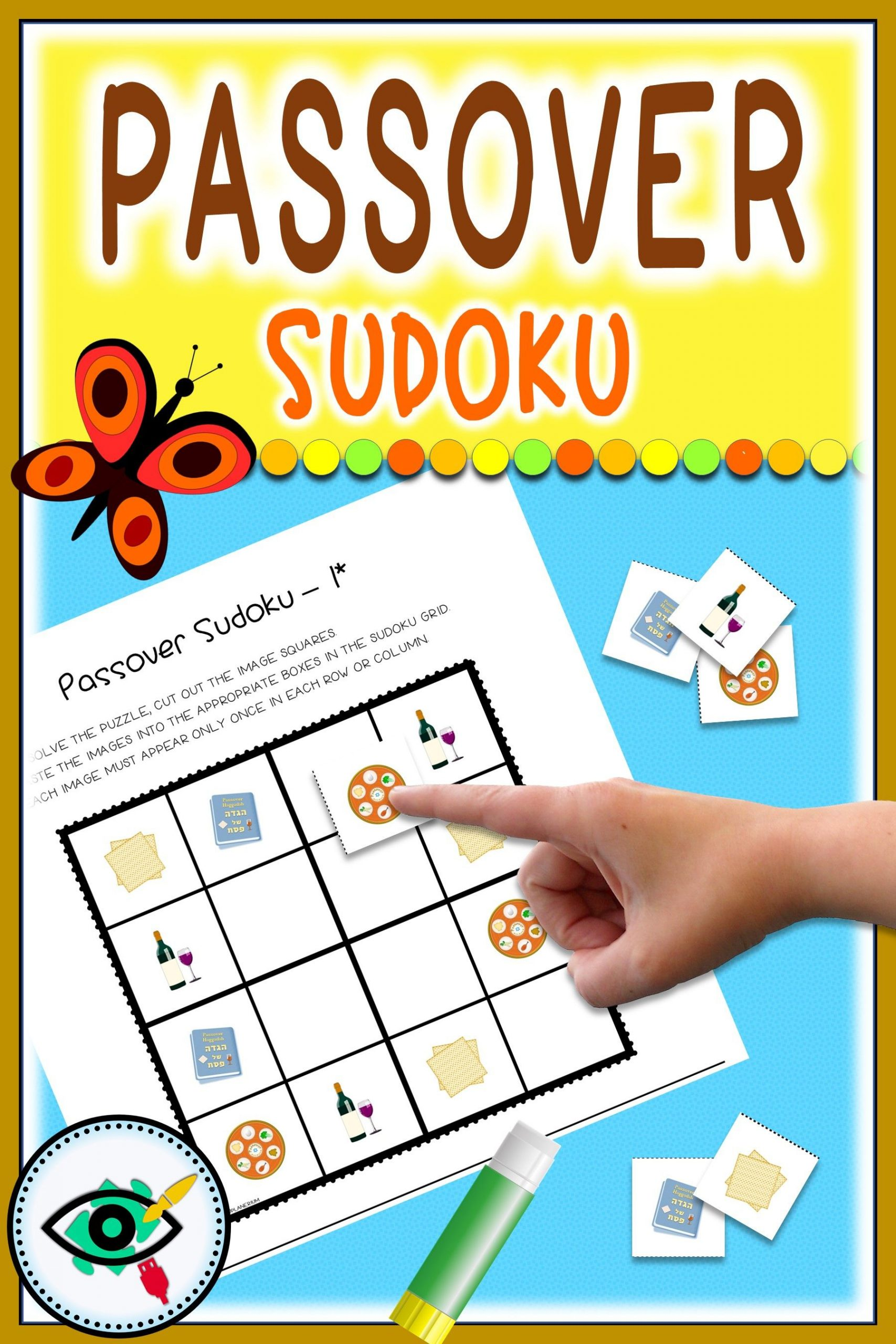 Passover Sudoku Game Printable | Games For Kids, First Grade