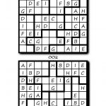 Pocket Puzzles Jigsaw Sudoku With Letters: 3 Levels: Easy