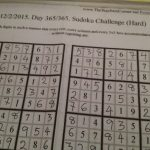 Post 365 Photo Challenge | 365 Sudoku Challenge 2015