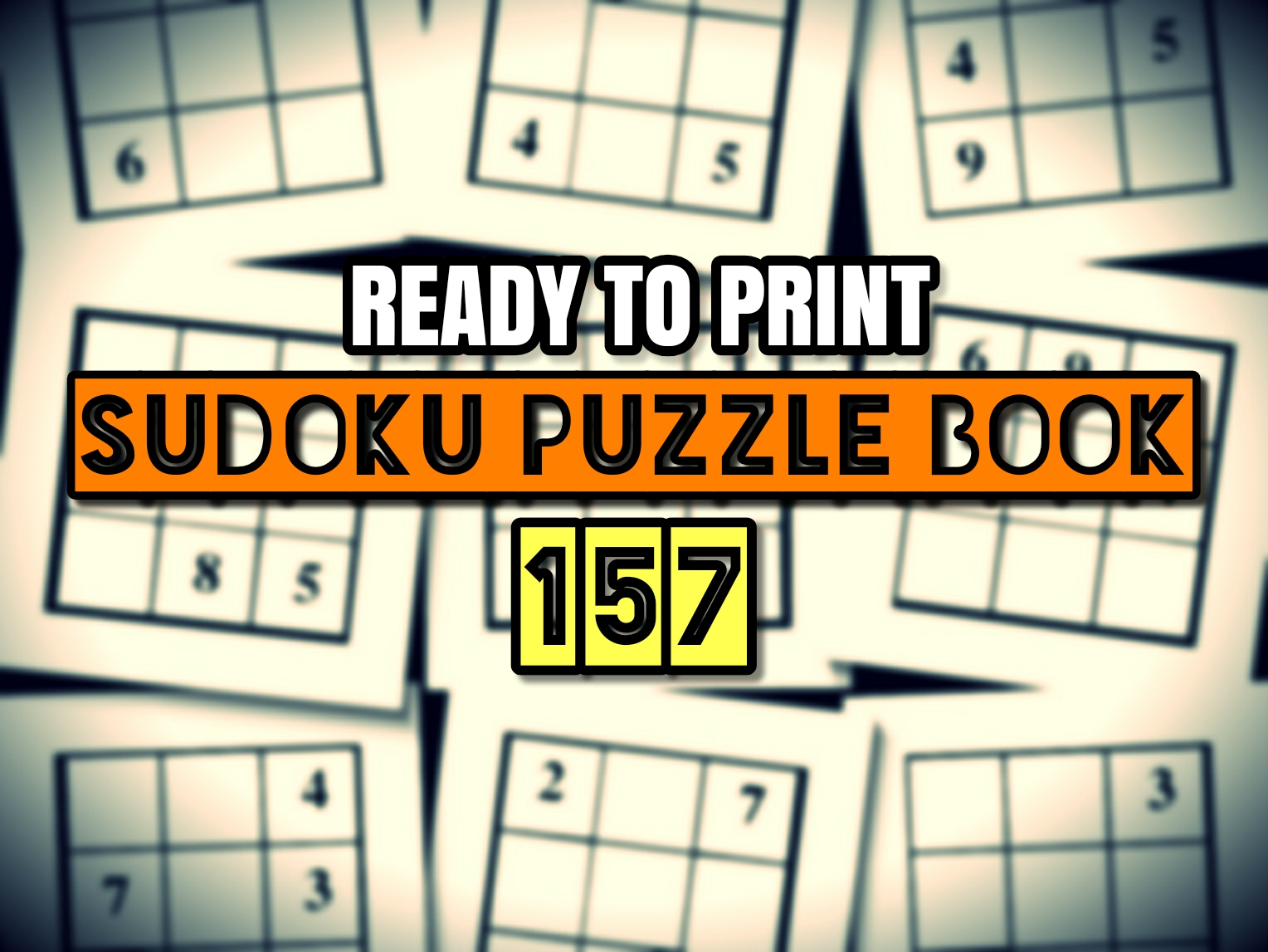 Print Ready Sudoku Puzzle Book Vol 157