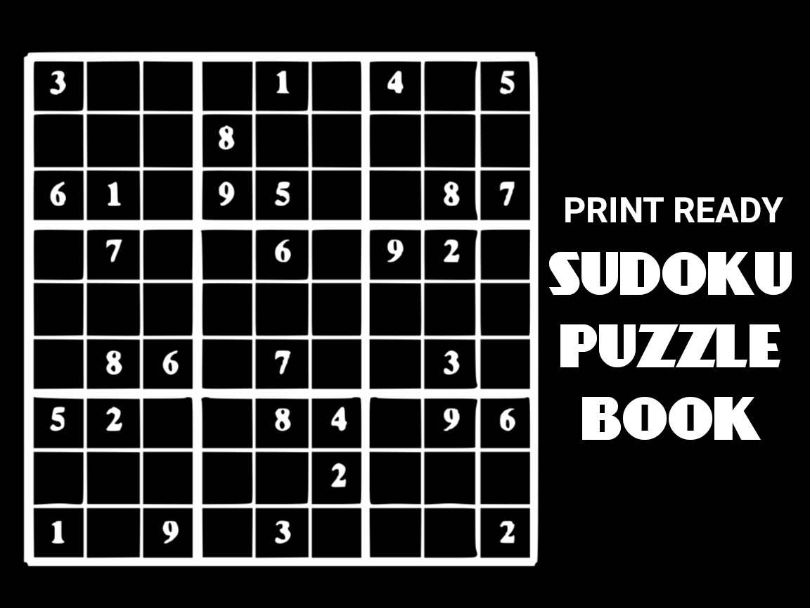 Print Ready Sudoku Puzzle Book Vol 99