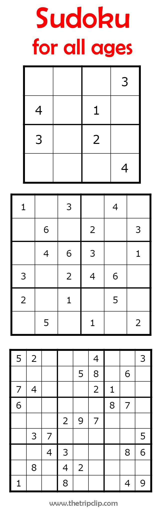 Printable Activities For Kids   Sudoku Puzzles, Printable