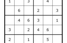 Free Printable 4×4 Sudoku Puzzles