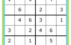 Kid Sudoku Printable 4×4