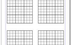 Printable Blank Sudoku Grid 4 Per Page