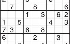 Easy Sudoku Printable 1 Per Page