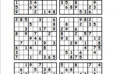 Free Printable Sudoku Puzzles 1 Per Page