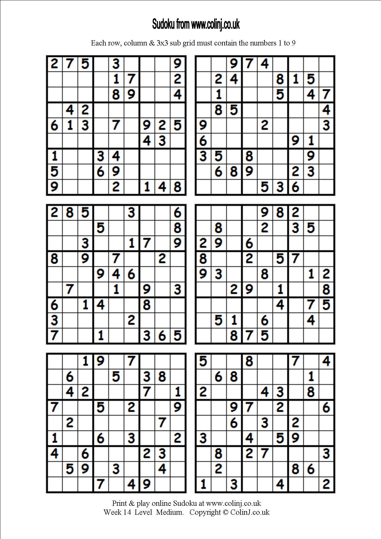 Printable Blank Sudoku Worksheets | Printable Worksheets And