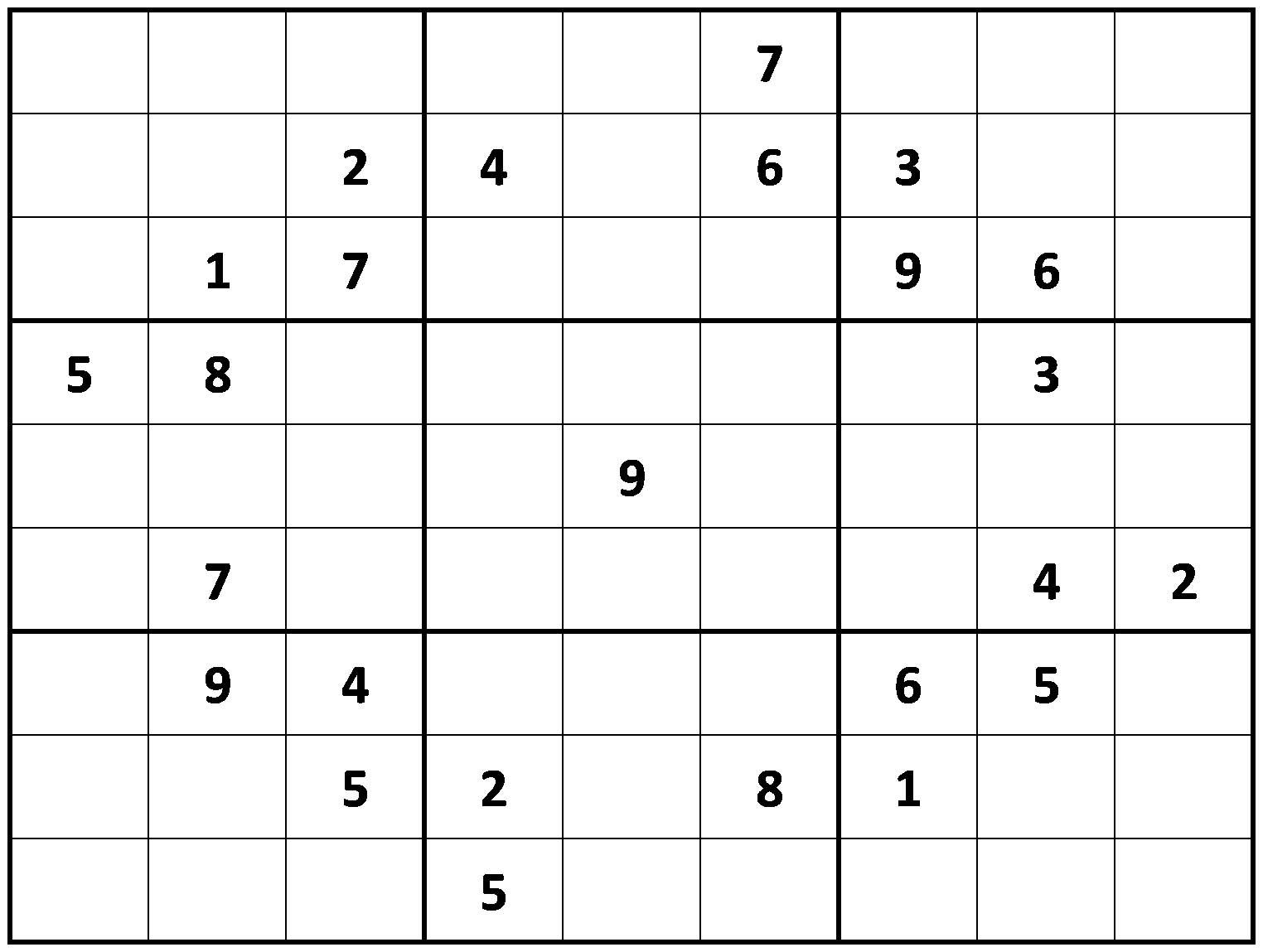 Printable - Difficult Sudoku Puzzles | Sudoku Printable