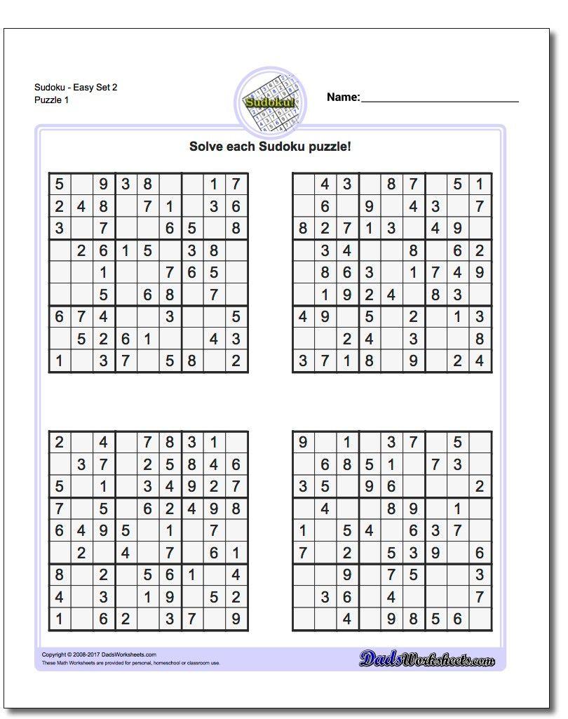 Printable Easy Sudoku   Sudoku, Sudoku Printable, Math