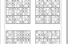 Medium Level Printable Sudoku