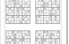 Printable Medium Sudoku Sheets