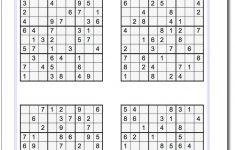 Sudoku Printables Medium Free