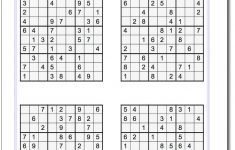 Medium Level Sudoku Free Printable