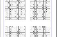 Sudoku Printable Medium 6 Per Page