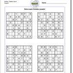 Printable Medium Sudoku Puzzles | Sudoku, Sudoku Printable