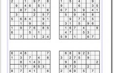 All Free Printable Sudoku Puzzles