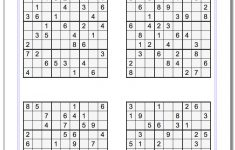 Free Printable Medium Level Sudoku