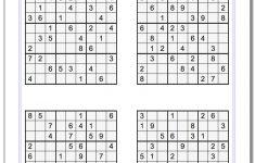 Tough Sudoku Puzzles Printable