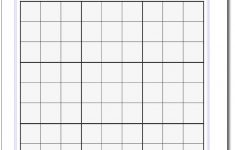 Printable Sudoku Puzzle Grids