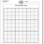 Printable Sudoku Puzzle Blank Grid! Printable Sudoku Puzzle
