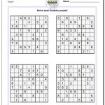 Printable Sudoku Sheets | Room Surf