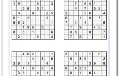 Printable Sudoku Puzzle Sheets