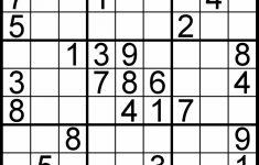 Free Printable Sudoku Puzzles Easy