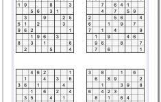 Free Printable Sudoku Puzzle Games