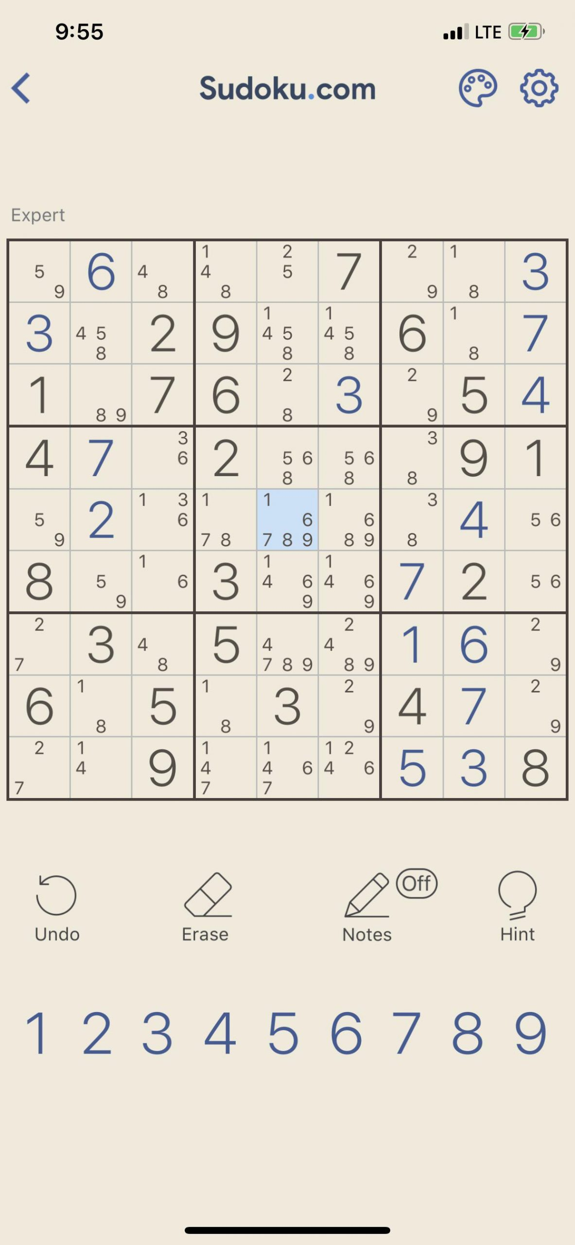 Probably The Hardest Sudoku Puzzle I've Ever Played. Me And