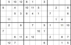 Sudoku 16×16 Numbers Printable