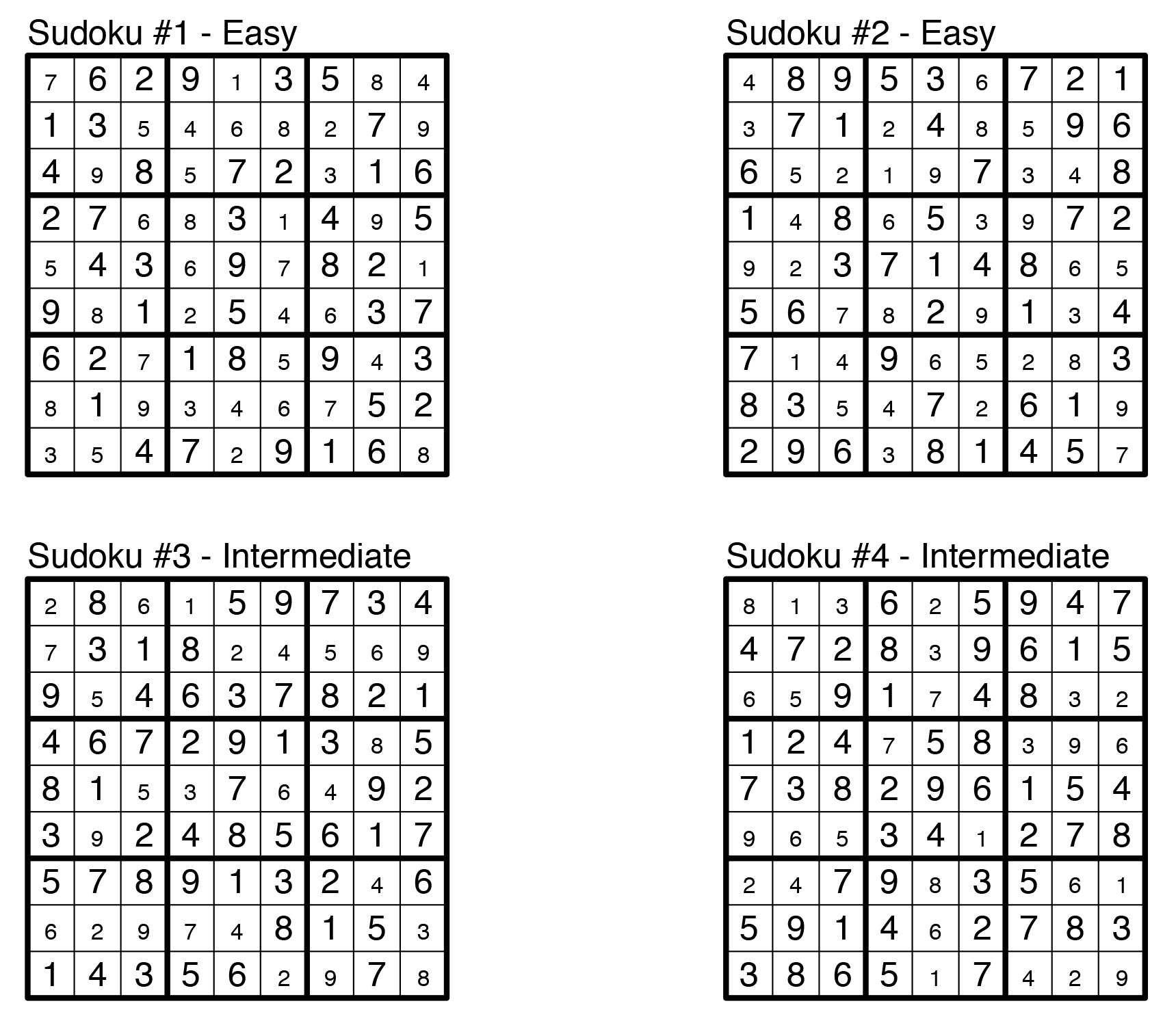 Puzzle Solutions: Issue 1: Aug. 23, 2013