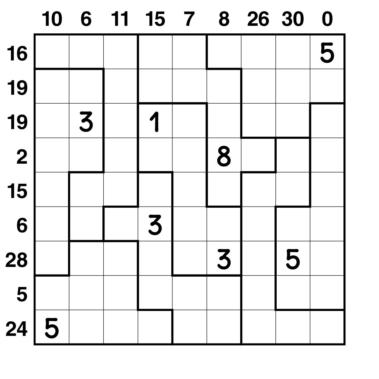 Sandwich Jigsaw Sudoku : Sudoku