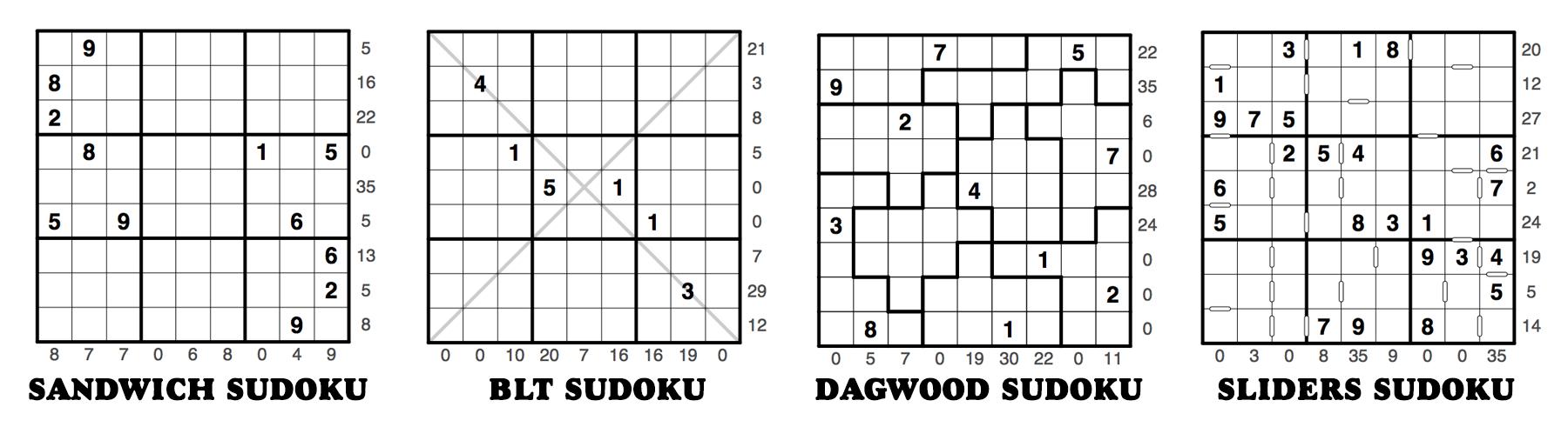 Sandwich Sudoku Puzzleskrazydad