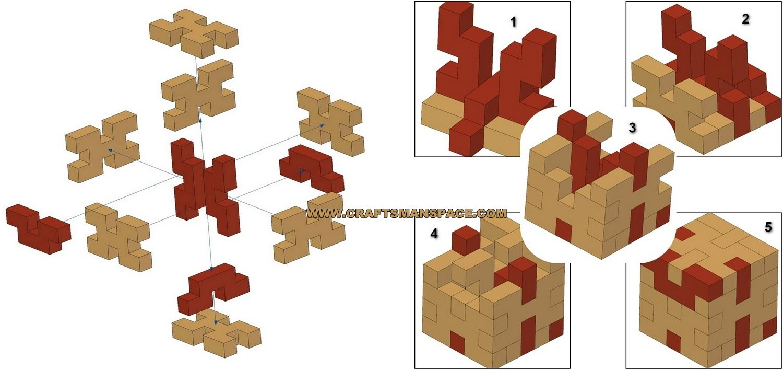 Simple Wooden 3D Puzzle - Solution | 3D Puzzles, Wood