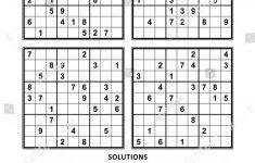 Easy Sudoku Printable 4 Per Page